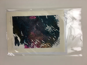 Hand Printed One-Of-A-Kind Abstract Cards by Kay Brown