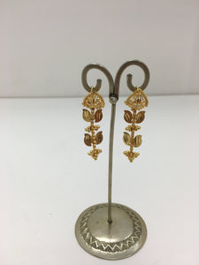 Short Dangly Gold Earrings