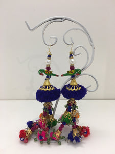 Parrot Earrings, Long