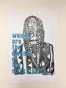 "Tanya Melendez ""Womxn are the Owners of the Marketplace"" Print"