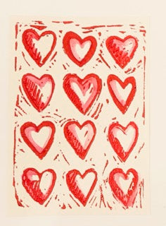 Kay Brown Heart Print Greeting Card