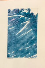 Blue Series, One-of-a-Kind Monoprint Cards by Kay Brown