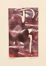 Hints of Soft and Red, Monoprint Cards by Kay Brown