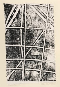 Lines, Monoprint Greeting Card by Kay Brown