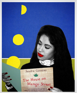 """Selena Reads Sandra"" Collage Print by Lexx Valdez"