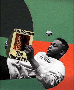 """Kendrick Reads Toni"" Collage Print by Lexx Valdez"