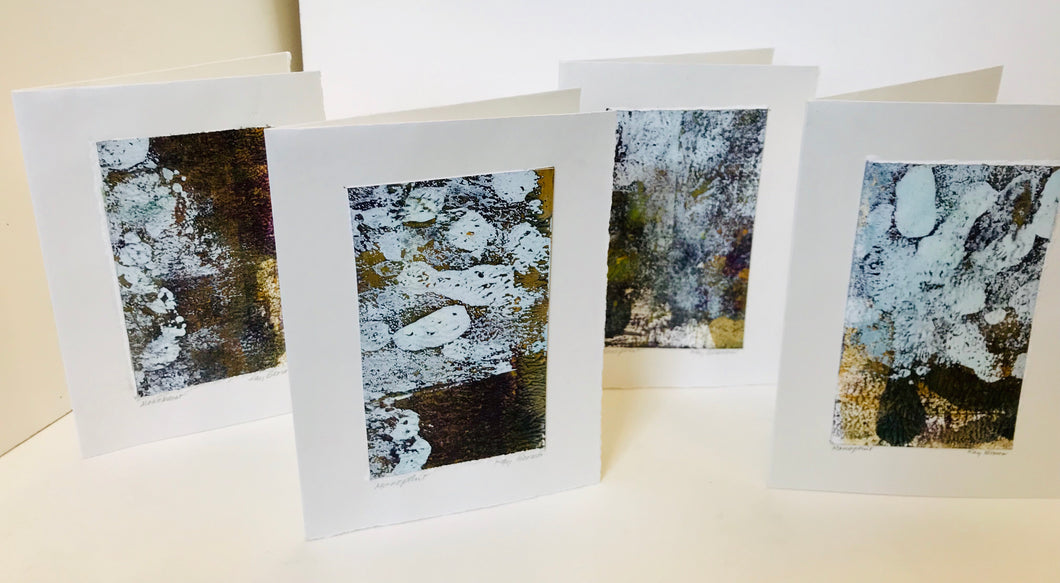 Monoprint Cards by Kay Brown: River Stones