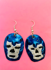 Handpainted Luchador Tin Earrings