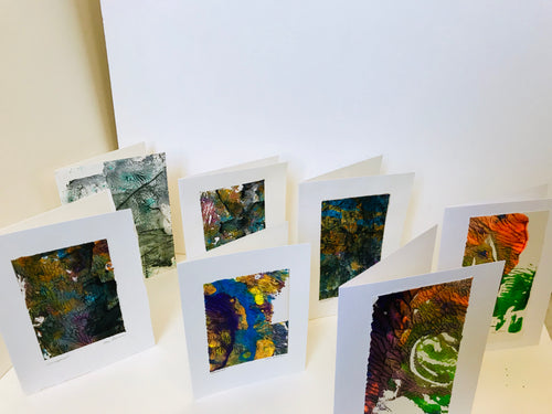 Monoprint Cards by Kay Brown: Multicolors