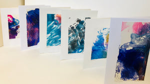 Monoprint Cards by Kay Brown: Assorted Purples
