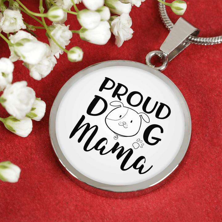 Proud Dog Mama Pendant and Necklace