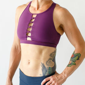 The Knotted Up Sports Bra (Eggplant)