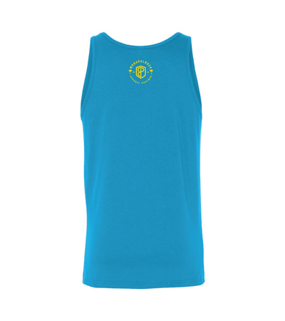 Men Graphic Tops - Electric Feels Man Tank (WODAPALOOZA 2020- Neon Blue)