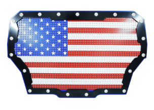 Xprite Black Steel Grille with U.S. Flag Mesh for 2017 Polaris RZR Turbo Models