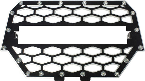 "2-panel Front Grill Black-silver W-10"" Light Bar"