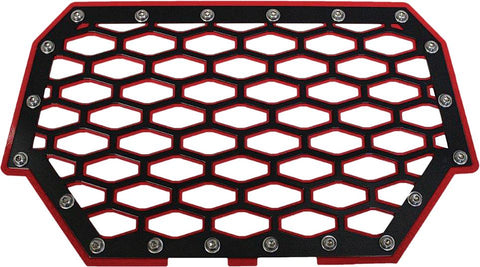 2-panel Front Grill (black-red)