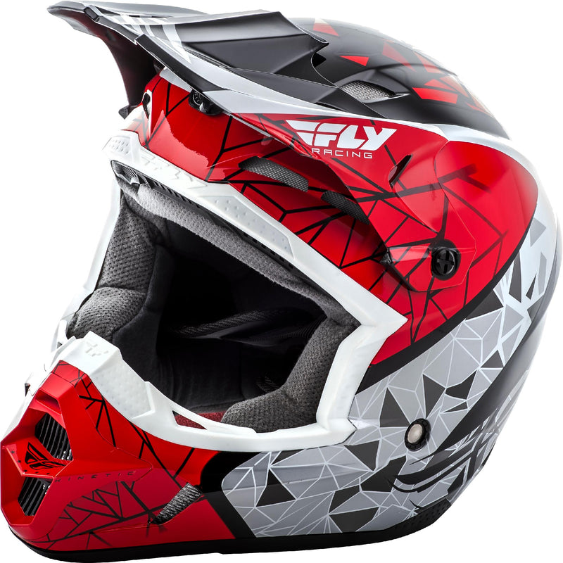 Kinetic Crux Helmet Red/Black/White Yl