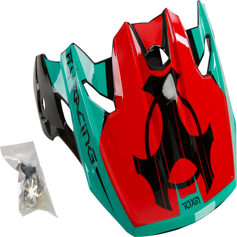 Toxin Original Youth Visor Red-teal-black