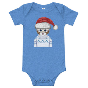 NOLA Bar Cats Holiday Kitten - Baby Onesie