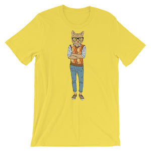 NOLA Bar Cats Fashion Cat Series - Nerd Hipster Cat Unisex Tee