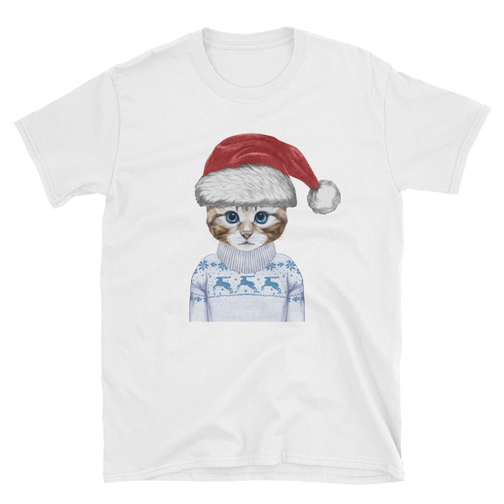 NOLA Bar Cats Holiday Kitten - Short-Sleeve Unisex T-Shirt