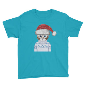 NOLA Bar Cats Holiday Kitten - Youth Short Sleeve T-Shirt