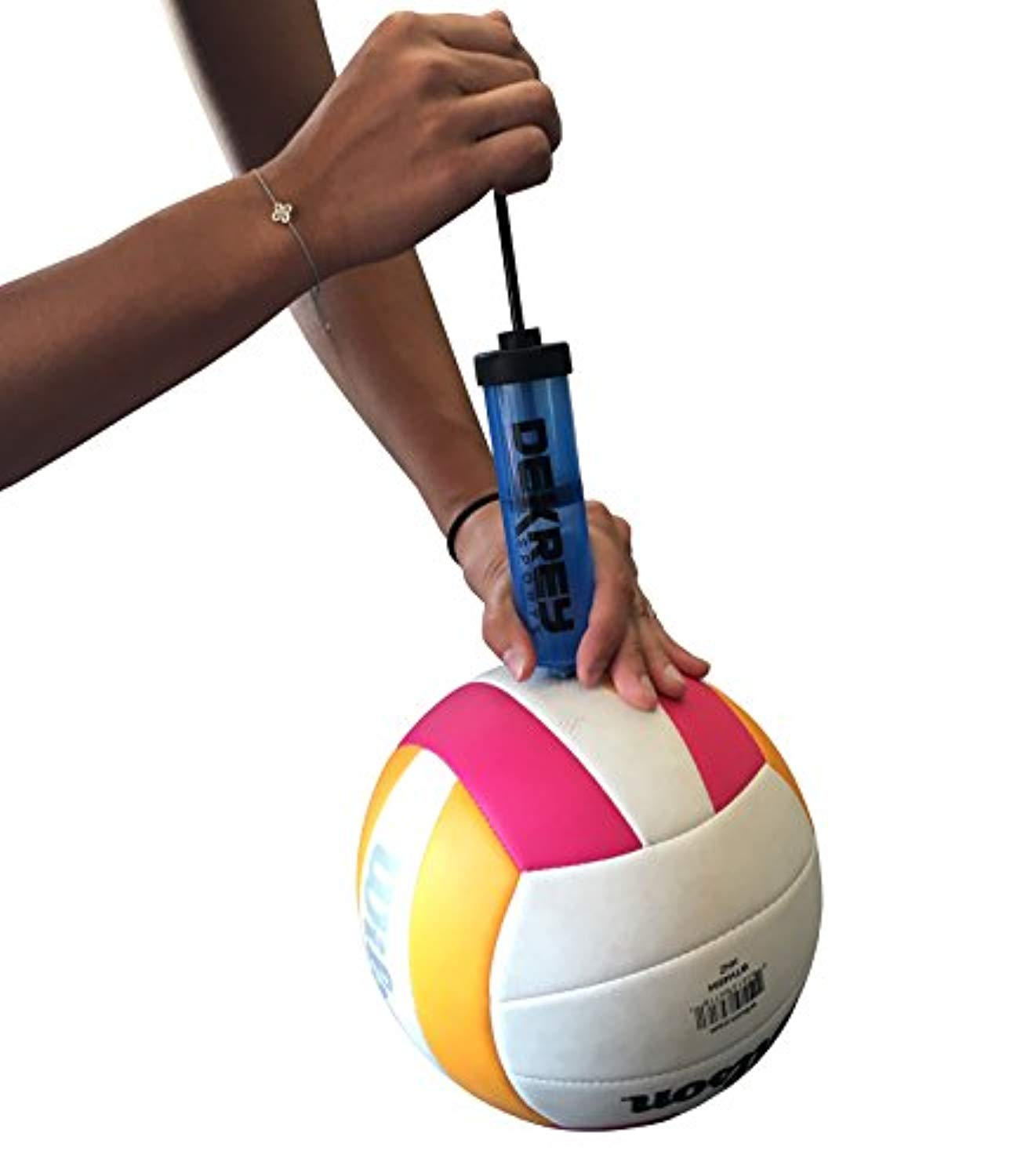 Sports 8-Inch Ball Pump for Any Sports Ball, Soccer Ball, Football, Volleyball, Basketball