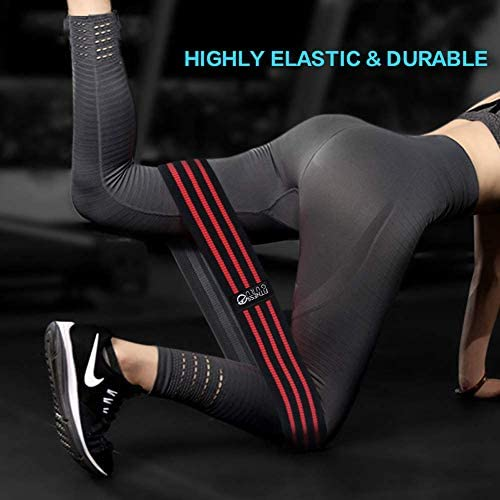 Non-Slip Elastic Loop Leg Resistance Bands for Strength Training, Glutes , Quads and Yoga stretch assist.