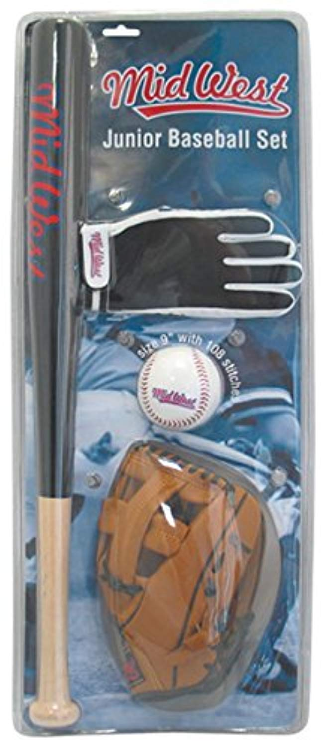 Junior Baseball Mitts Bat & Ball Set