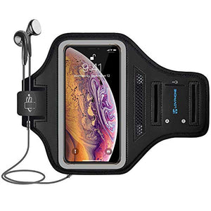 iPhone Xs Max Armband, Fingerprint Sensor Access Supported with Key Holder & Card Slot,Water Resistant and Sweat-Proof
