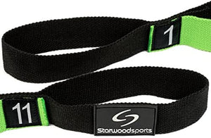 Yoga Stretch Assist Strap with Numbered Loops and Guide included - Improve Flexibility for Dance, Gymnastics, Injury Rehab