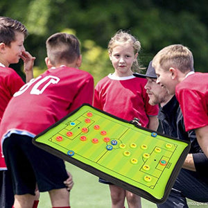 Magnetic soccer strategy board