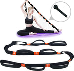 Yoga Stretching Strap Exercise Band with Multiple Grip Loops