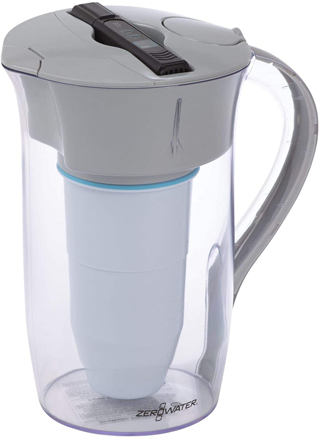 ZeroWater | 8 Cup Water Filter Jug .Water Quality Meter, 1.9 litres