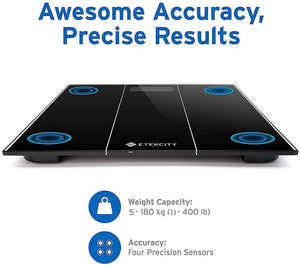 Etekcity High Precision Digital Body Weight Bathroom Scales Weighing Scale with Step-On Technology, Body Measuring Tape Included, 28st/180kg/400lb, Backlight Display