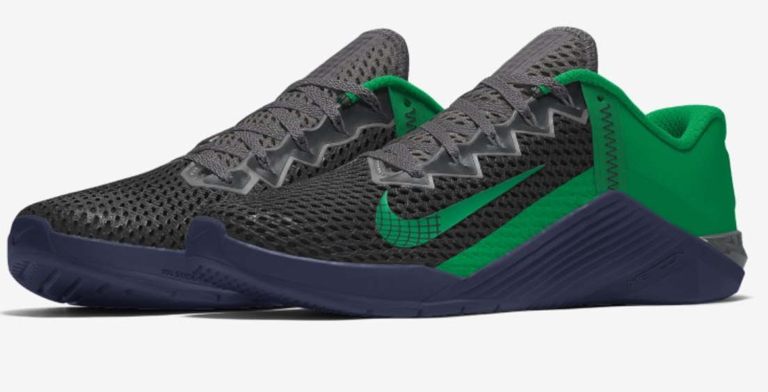 Metcon 6 - Black and earth green for the heavy GYM session : Mens trainers