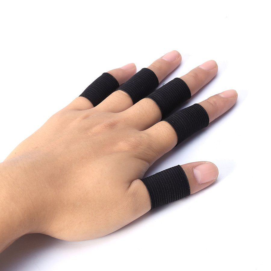10Pcs Finger Protector Sleeve Support Basketball Sports Aid Arthritis Band Wraps Finger Sleeves