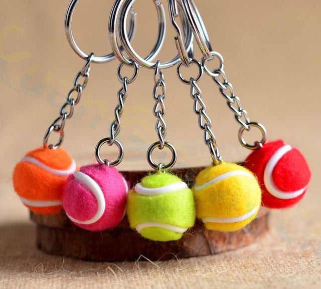 2pcs Rugby football bag plastic Pendant Rugby ball advertisement keychain small sport key chain fans souvenirs key ring