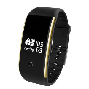 IP67 Waterproof Pedometer V9 Smart Blood Pressure Monitor Heart Rate Fitness Tracker Pedometer Running Step Counter Wrist Watch