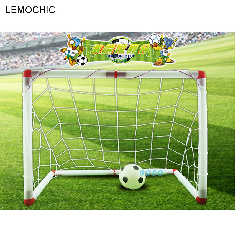 LEMOCHIC Folding Children Kids Football Goal Door Set Football Gates Outdoor Indoor Sports Toys Kids Soccer Door Set Cool Gifts
