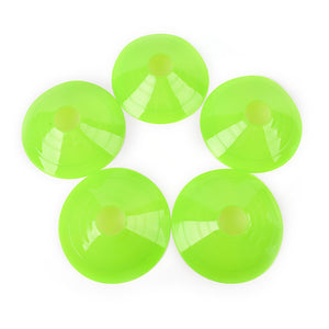Cones Marker Discs for Rugby Training: 5pcs set