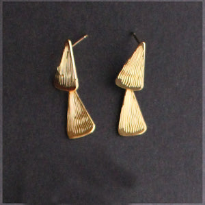 Stacey 2 tier Earring Gold Finish