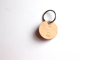 """Black Women Owned"" Leather Keyring"