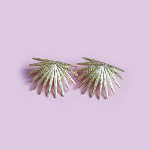 Solidad Brass Post Earring - Amber Poitier Inc.