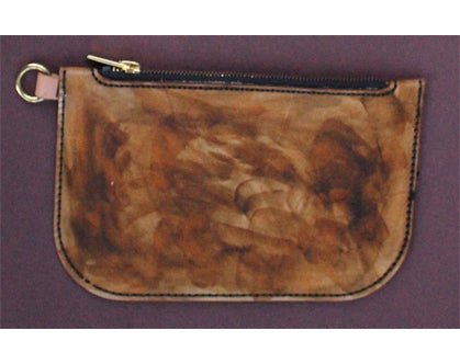 Cleopatra Zip Leather Pouch (Large) Veg Tanned Leather - Antique Finish
