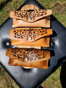 Laser Cut Leather Eye Glass Case - Amber Poitier Inc.