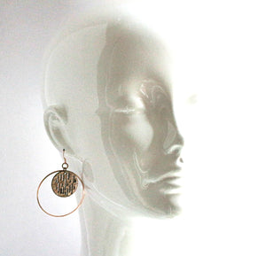 Jazmine Small Leather Earrings - Rose Gold