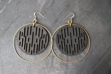 Jazmine Large Leather Earrings - Black - Amber Poitier Inc.