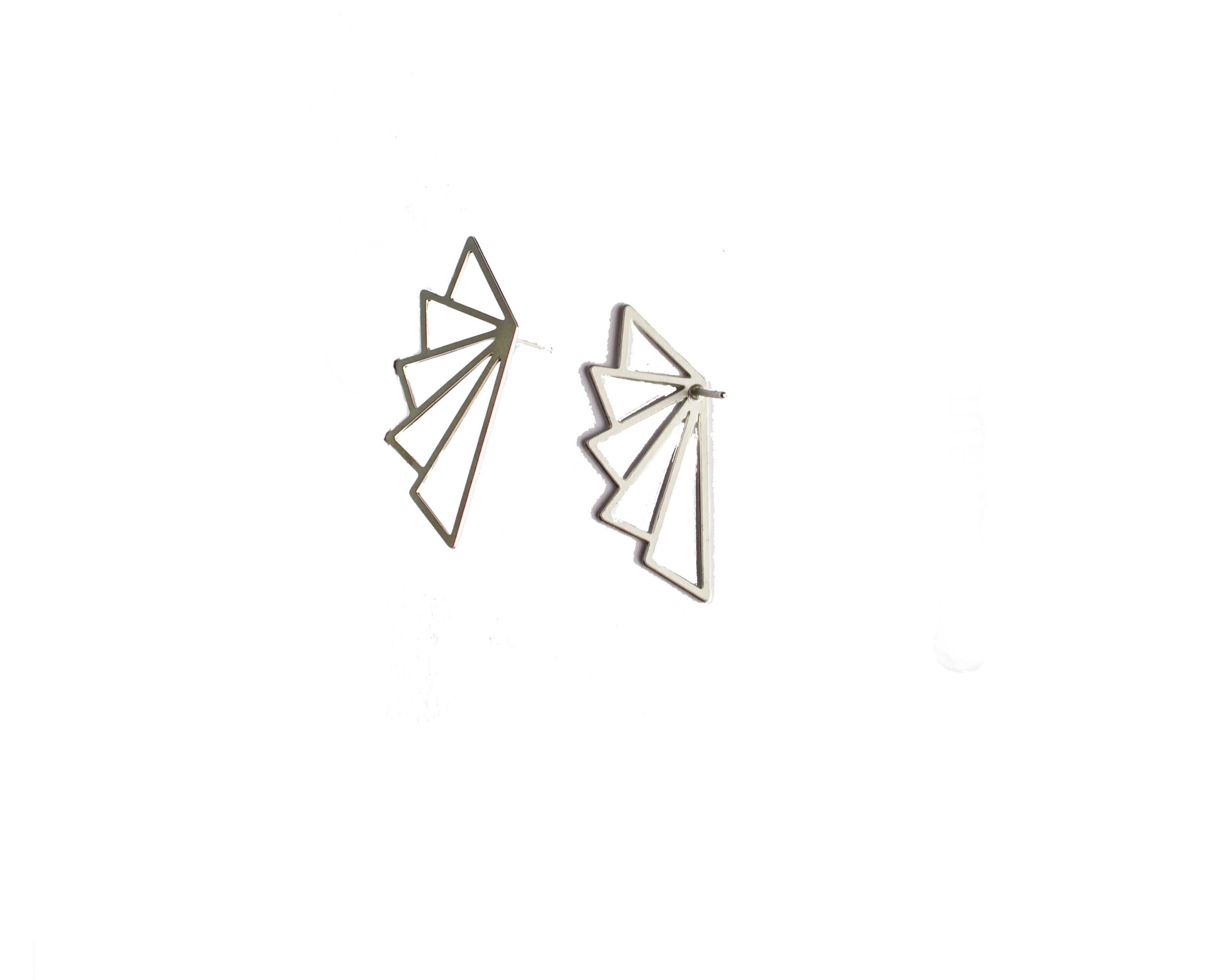 Angelica Stud Earring Silver Finish