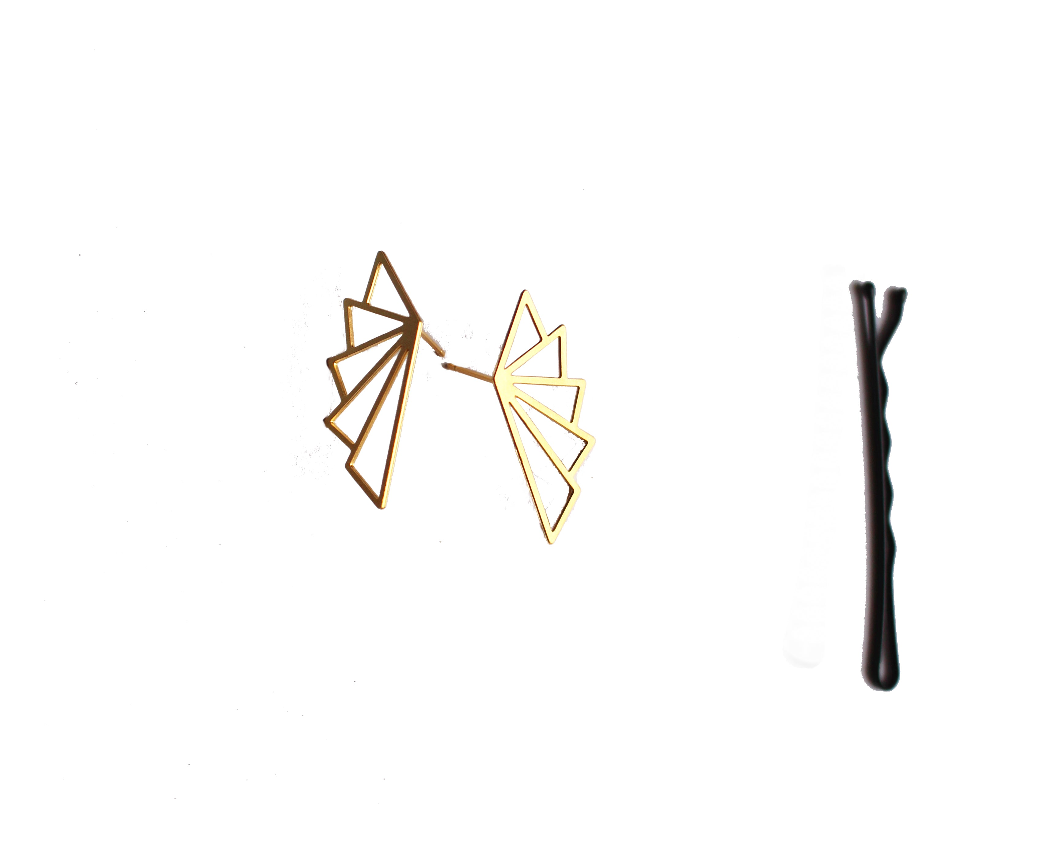 Angelica Stud Earring Gold Finish
